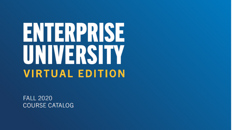 Enterprise University Virtual Edition Fall 2020 Course Catalog